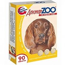 Доктор ЗОО//витамины для собак со вкусом сыра 90 таб.