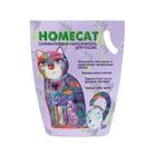 HOMECAT 3,8 л./Хоум Кэт наполнитель силикагелевый с ароматом лаванды