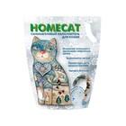 HOMECAT 3,8 л./Хоум Кэт наполнитель силикагелевый с ароматом морозной свежести