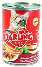Darling 400 г//Дарлинг консервы для кошек с мясом и кукурузой
