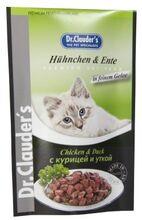 Dr.Clauder`s 100 гр./Доктор Клаудер консервы в фольге для кошек с курицей и уткой