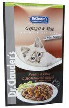 Dr.Clauder`s 100 гр./Доктор Клаудер консервы в фольге для кошек с домашней птицей и почками