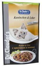 Dr.Clauder`s 100 гр./Доктор Клаудер консервы в фольге для кошек с кроликом и печенью