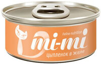 Mi-Mi Chicken in Jelly//Ми-ми консервы для кошек и котят с цыпленком 80 г