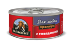 Мамонт Премиум 100 гр./ Говядина фарш влажный корм для собак