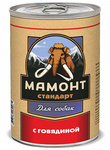 Мамонт Стандарт 970 гр./ Говядина влажный корм для собак