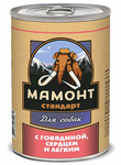 Мамонт Стандарт 340 гр./ Говядина.сердце и легкое влажный корм для собак
