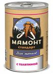 Мамонт Стандарт 340 гр./ Телятина влажный корм для щенков