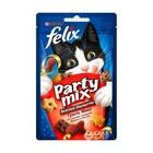 Felix Party Mix 20 гр./Феликс Лакомство для кошек Гриль-микс, со вкусом говядины, курицы и лосося