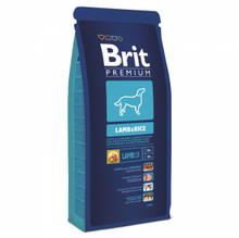 Brit Premium Adult Lamb Rice 15кг./Брит сухой корм для собак с ягненком и рисом