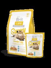 Brit Care Cat Sunny I've Beautiful Hair 400 гр./Брит Каре сухой корм для кошек длинношерстных с лососем и рисом