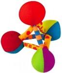 Petstages/ Игрушка для собак мини Пирамида текстильная /147