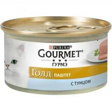 Gourmet Gold 85 гр./Гурме Голд консервы для кошек паштет с тунцом