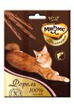 Мнямс 3*4 гр./Деликатес лакомые палочки  для кошек с форелью