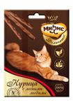 Мнямс 3*4 гр./Деликатес лакомые палочки  для кошек с курицей и лесными ягодами