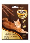 Мнямс 3*4 гр./Деликатес лакомые палочки  для кошек с лососем и манго