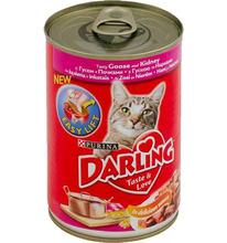 Darling 400 г//Дарлинг консервы для кошек гусь с почками