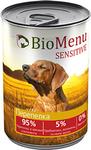 BioMenu SENSITIVE 410 гр./БиоМеню консервы для собак с чувствительным пищеварением Перепелка