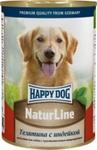 Happy Dog 400 гр./Хеппи Дог консервы для собак телятина индейка