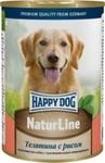 Happy Dog 400 гр./Хеппи Дог консервы для собак телятина рис