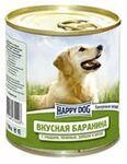 Happy Dog 750 гр. /Хэппи Дог консервы для собак Вкусная баранина с сердцем, печенью, рубцом и рисом