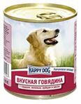 Happy Dog 750 гр./ Хэппи Дог консервы для собак Вкусная говядина с сердцем, печенью и рубцом и рисом