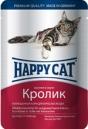 Happy Cat 100 гр./Хеппи Кет консервы  для кошек кролик в соусе