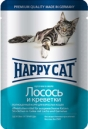 Happy Cat  100 гр./Хеппи Кет консервы  для кошек лосось с креветками в желе в желе