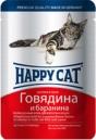 Happy Cat  100 гр./Хеппи Кет консервы  для кошек говядина с бараниной соус