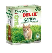 Natura Delix BIO//Деликс Био капли антипаразитарные для котят 2 пипетки