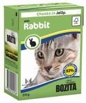 Bozita  370 гр./Бозита консервы для кошек кусочки в желе Кролик