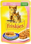 Friskies 100 гр./Фрискис консервы в фольге для котят с курицей в подливе