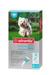 Advantix//капли для собак от 4 до 10 кг от блох и клещей 4*1 мл