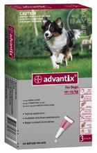 Advantix//капли для собак от 10 до 25 кг от блох и клещей 4*2,5 мл