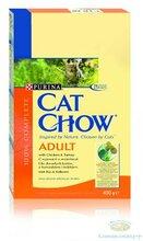 Cat Chow Adult 400 гр./Кет Чау сухой корм для кошек с индейкой и курицей