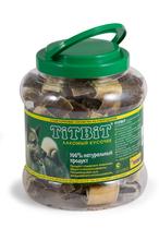 TitBit 4,3 л./ТитБит Бантики с желудком говяжим.- банка пластик