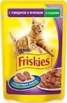 Friskies 100 гр./Фрискис консервы в фольге для кошек с говядиной и ягненком в подливе