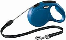 FLEXI Классик M/Поводок рулетка/8 м/20кг трос синяя