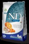 Farmina N&D Dog GF Pumpkin Codfish & Orange Adult Mini  2,5 кг./Фармина сухой корм для собак  Треска апельсином и тыквой мелк породы