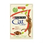 Cat Chow 85 гр./Кет Чау паучи для кошек кусочки в желе с говядиной и баклажанами