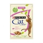 Cat Chow 85 гр./Кет Чау паучи для кошек кусочки в желе с  ягненком и зеленой фасолью