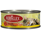 Berkley 100 гр./Беркли Консервы для кошек утка, индейка     №6