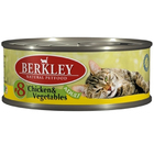 Berkley 100 гр./Беркли Консервы для кошек цыпленок, овощи       №8