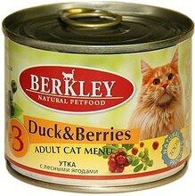 Berkley 200 гр./Беркли Консервы для кошек Утка с лесными ягодами №3