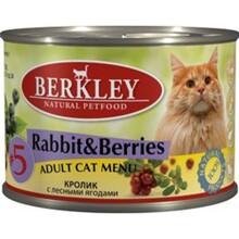 Berkley 200 гр./Беркли Консервы для кошек Кролик с лесными ягодами №5