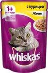 Whiskas 85 гр./Вискас консервы в фольге для кошек Желе с курицей