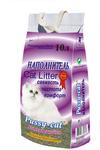 Pussy Cat 10 л./Пуси-Кет наполнитель комкующийся фиолетовый для кошек