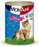 Mon Ami//Мон Ами консервы для кошек кролик кусочки в соусе 415 г
