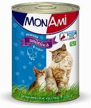 Mon Ami//Мон Ами консервы для кошек индейка кусочки в соусе 415 г