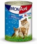 Mon Ami//Мон Ами консервы для кошек нежное мясное рагу в соусе 415 г